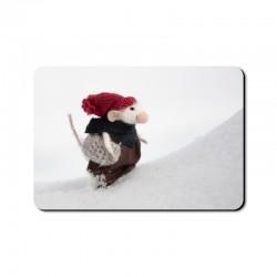 """Magnes """"Myszka w śniegu"""""""